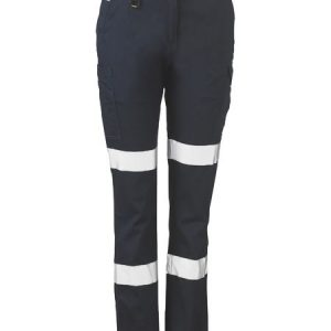 Ladies Taped Cotton Cargo Pants - BPL6115T - Navy