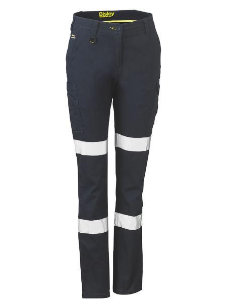 Ladies Taped Cotton Cargo Pants - BPL6115T - Navy