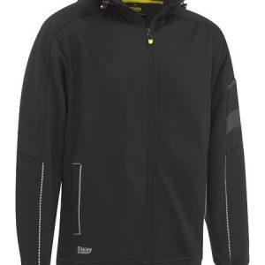 Zip-Front Work Fleece Hoodie - BK6925 - Black