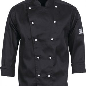 Three Way Air Flow Long Sleeve Chef Jacket - 1106 - Black