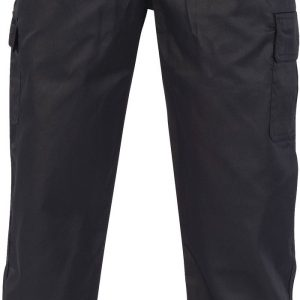 Unisex Drawstring Chefs Cargo Pants - 1506 - Black