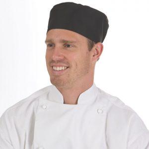 Flat Top Chef Hats - 1602 - Black