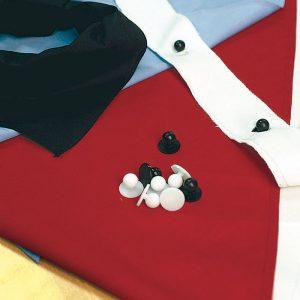 Chef Jacket Button Strip (Pair) - 1761 - White