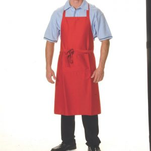 Full Bib Apron No Pocket. 65% Polyester