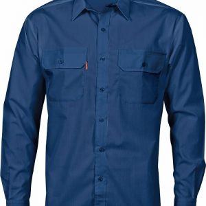Mens Long Sleeve Work Shirt. 65% Polyester