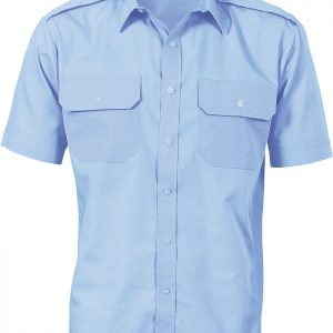 Mens Epaulette Short Sleeve Work Shirt. 65% Polyester
