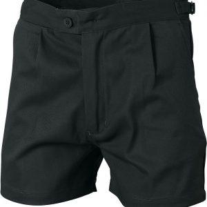 Mens Utility Shorts. 100% Cotton. 311gsm. Regular Weight - 3301 - Black