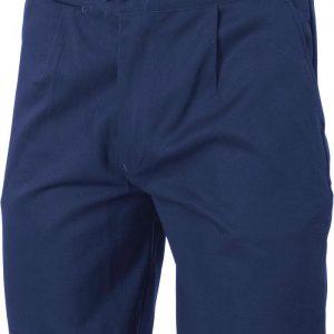 Mens Long Leg Utility Shorts.  100% Cotton. 311gsm. Regular Weight - 3307 - Navy