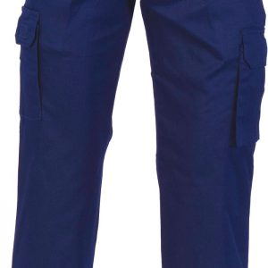 Mens Cargo Pants. 100% Cotton. 265gsm. Mid Weight - 3320 - Navy