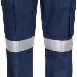 Ladies Hi Vis 3M Taped Cargo Pants. 100% Cotton. 311gsm. Regular Weight - 3323 - Navy