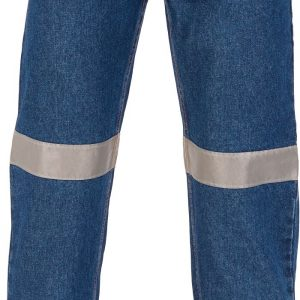 Mens Hi Vis Denim Jeans With CSR R/Tape - 3327 - Blue