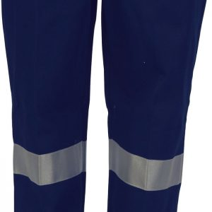 Ladies Hi Vis 3M Taped Trousers. 100% Cotton. 311gsm. Regular Weight - 3328 - Navy