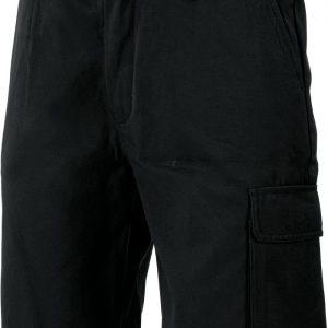 Mens Cotton Canvas Cargo Shorts. 100% Cotton. 260gsm. Mid Weight - 3331 - Black