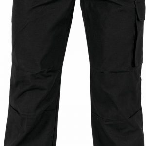 Mens Cotton Canvas Cargo Pants. 100% Cotton. 260gsm. Mid Weight - 3332 - Black