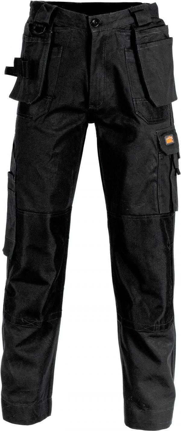 Mens Duratex Cotton Canvas Tradies Cargo Pants. 100% Cotton. 285gsm. Mid Weight - 3337 - Black