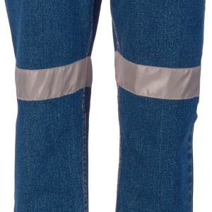 Ladies Hi Vis CSR Taped Stretch Denim Jeans - 3339 - Blue
