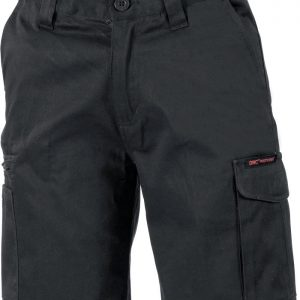 Ladies Digga Cargo Shorts. 100% Cotton. 265gsm. Mid Weight - 3355 - Black