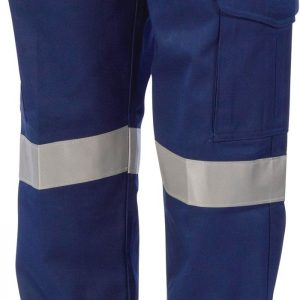 Ladies Hi Vis CSR Taped Digga Cargo Pants. 100% Cotton. 265gsm. Mid Weight - 3357 - Navy