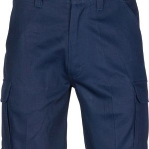 Mens Cargo Shorts with Shorter Leg Length. 100% Cotton. 265gsm. Mid Weight - 3358 - Navy