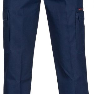Mens Cargo Pants. 100% Cotton. 265gsm. Mid Weight - 3359 - Navy