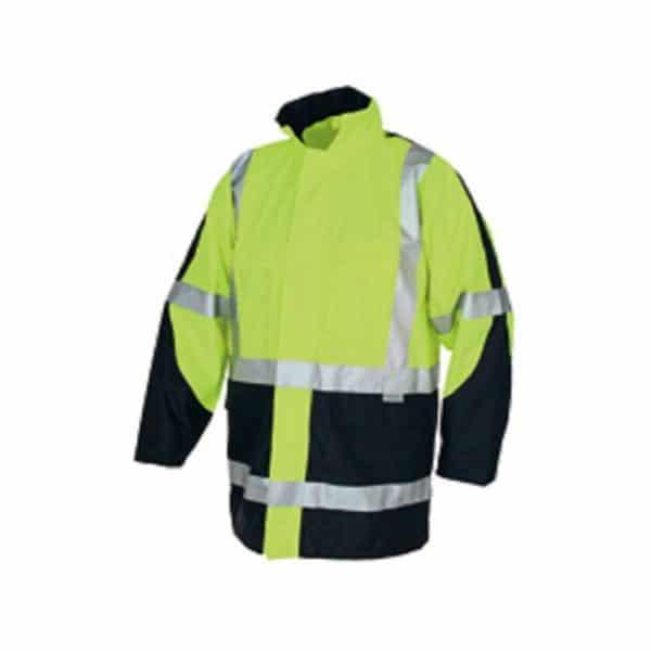 HRC2/ PPE2 HiVis Bio Motion Taped Rain Jacket - 3467 - Yellow/Navy
