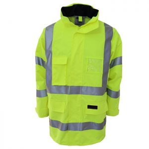 Hi Vis Breathable Rain Jacket Biomotion Tape - 3571 - Yellow