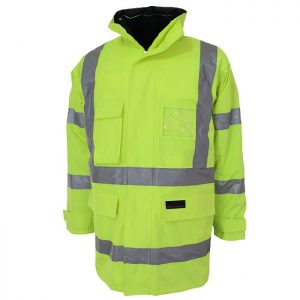 Hi Vis 6-in-1 Breathable Rain Jacket Bio-Motion - 3572 - Yellow
