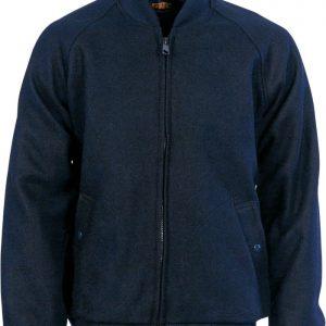 Bluey Jacket with Ribbing Collar & Cuffs. 90% Wool