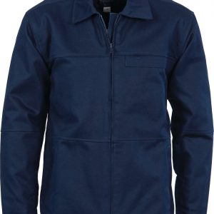 Protector Cotton Jacket with Cotton Lining. 100% Cotton. 311gsm - 3606 - Navy