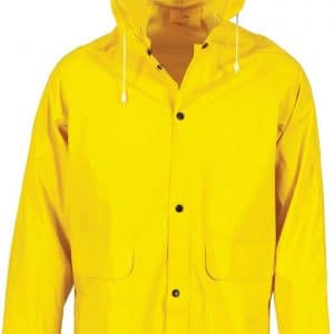 PVC 3/4 Length Rain Jacket - 3702 - Yellow