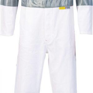 RTA Night Worker Coverall with 3M 8910 R/Tape. 100% Cotton. 311gsm. Regular Weight - 3856 - White