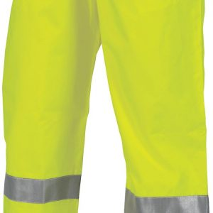 Hi Vis 3M Taped Breathable Rain Pants - 3872 - Yellow