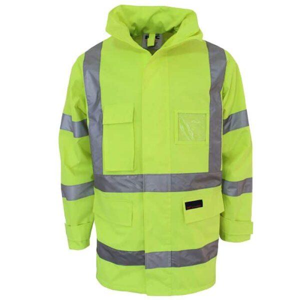 Hi Vis X Back & Biomotion Taped Rain Jacket - 3996 - Yellow