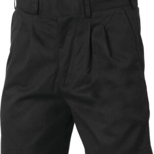 Pleat Front Permanent Press Shorts. 275 gsm 80% Polyester