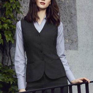 Ladies Longline Vest - Charcoal