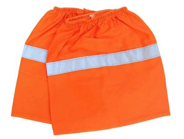 Cotton Boot Covers with Reflective Tape - 6002 - Orange