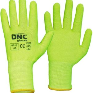 Hi Vis Cut5 Liner Safety Gloves - GC13 - HiVis Yellow