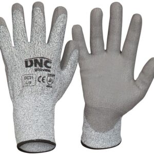 Cut5 PU Palm Safety Gloves - GC21 - Grey /Grey