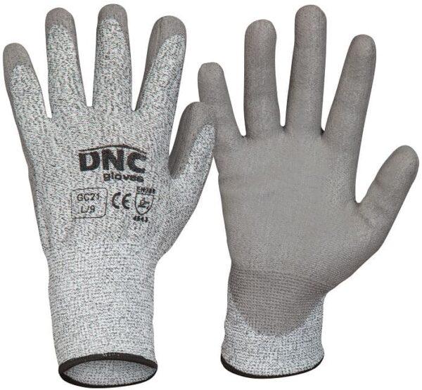 Cut5 PU Palm Safety Gloves - GC21 - Grey /Grey