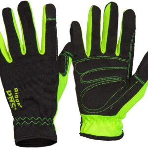 RIGGA+ Synthetic Leather Palm Safety Gloves - GM02 - Black/Black