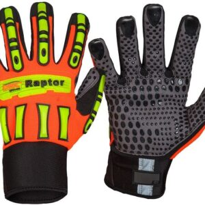 Raptor Ultimate Grip Oil Repellent Safety Gloves - GM21 - HiVis Orange/Black