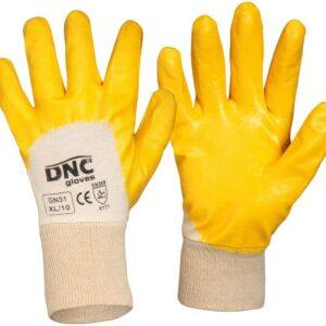 Lightweight Orange Nitrile 3/4 Coated General Purpose Safety Gloves - GN31 - Orange/Nature