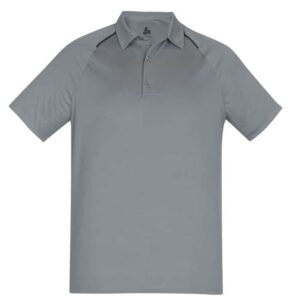 Mens Academy Polo - Silver/Charcoal