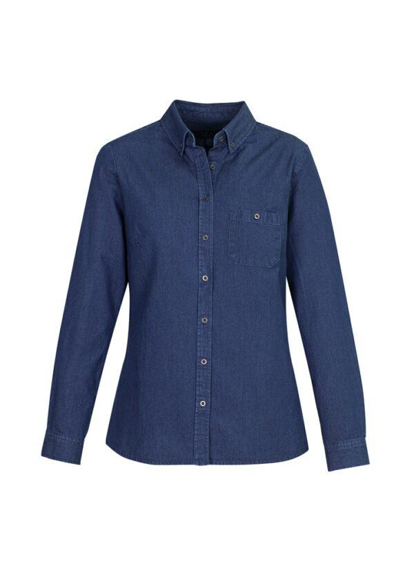 Ladies Indie Long Sleeve Shirt - Dark Blue