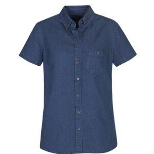 Ladies Indie Short Sleeve Shirt - Dark Blue