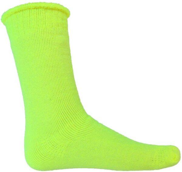 Hi Vis 3 Pair Pack Woolen Socks. 75% Wool
