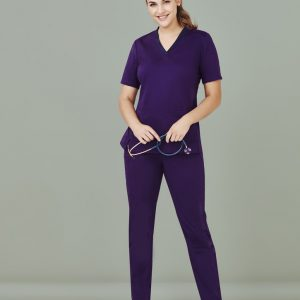 Ladies Riley Straight Leg Scrub Pants - Purple
