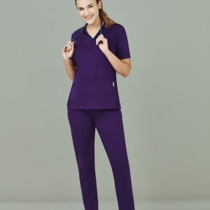 Ladies Riley V-Neck Scrub Top - Purple